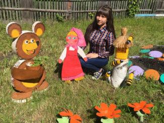 Наиля Бухареева назвала свою площадку «Маша и медведь на пасеке»