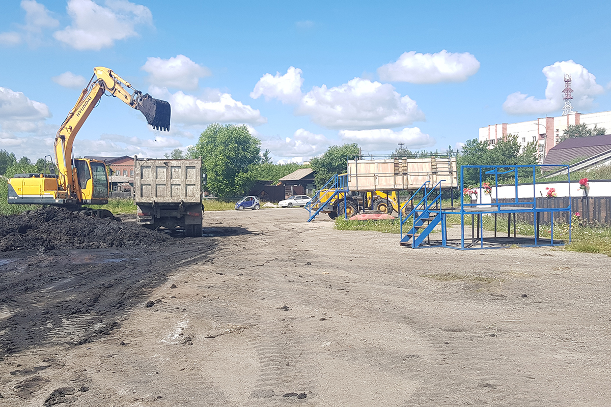 В Каслинском районе продолжается реализации программы «Формирование комфортной городской среды»