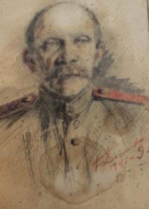 Карандашный портрет В. И. Чиркина, нарисованный Б. В. Волковым 9 мая 45-го года