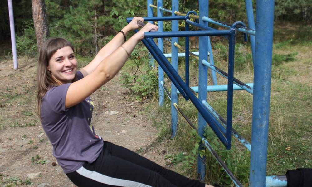Вероника Воробьева, директор городского физкультурно-спортивного комплекса, тоже решила попытать свои силы в сдаче тестов ГТО