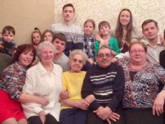 Многочисленная и дружная семья Дроздовых–Молчановых–Зацепиных