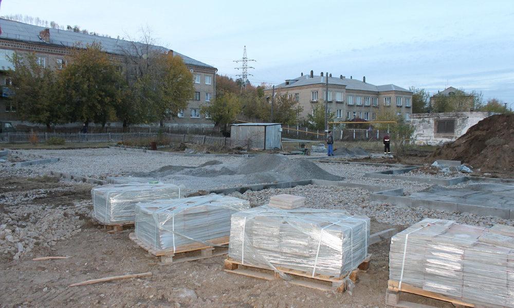Такой была строительная площадка будущего сквера неделю назад