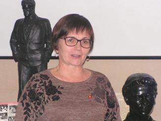 Ольга Германовна Виноградова на открытии выставки
