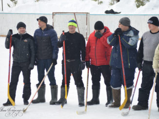 соревнования по хоккею на валенках среди цехов Вишневогорского горно-обогатительного комбината