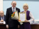 Благодарственное письмо из рук губернатора Бориса Дубровского получила Юлия Кирющенко