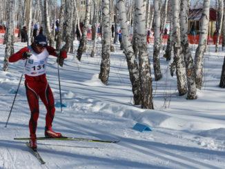 На лыжной дистанции Вячеслав Панкратов