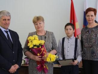 Александра Валентиновна Брезгина со своим учеником Данилой Халиловым