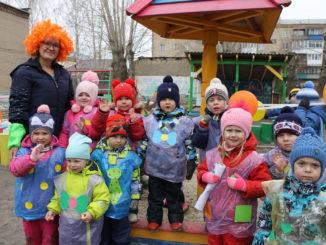 Виктория Фахреева со своими воспитанниками после открытого занятия