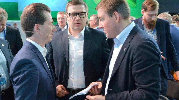 Владимир Бурматов, Алексей Текслер и Андрей Турчак