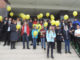 По окончании праздничного мероприятия гости, педагоги и воспитанники Центра вышли на крыльцо, чтобы запустить воздушные шары в небо