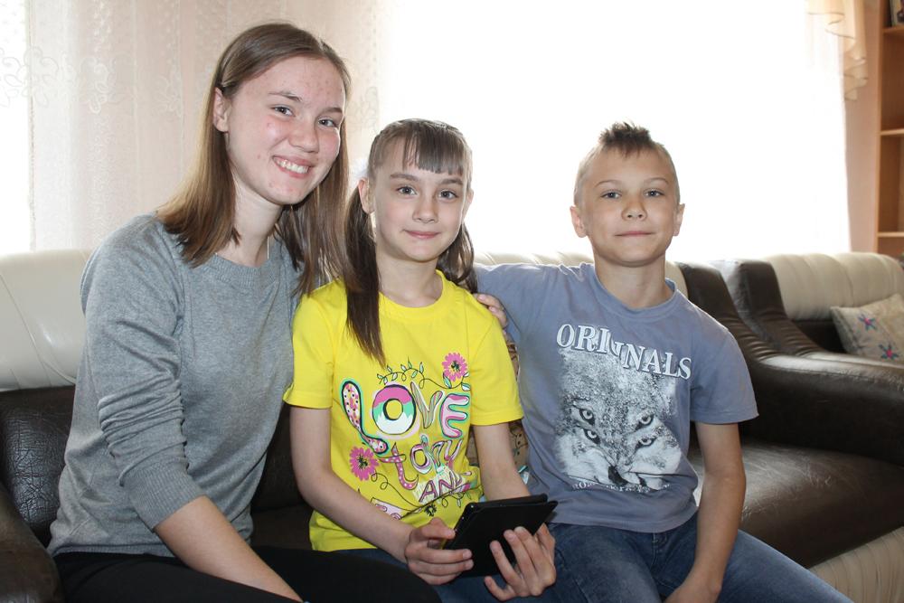 Чудиновы: Наташа, Лена и Никита