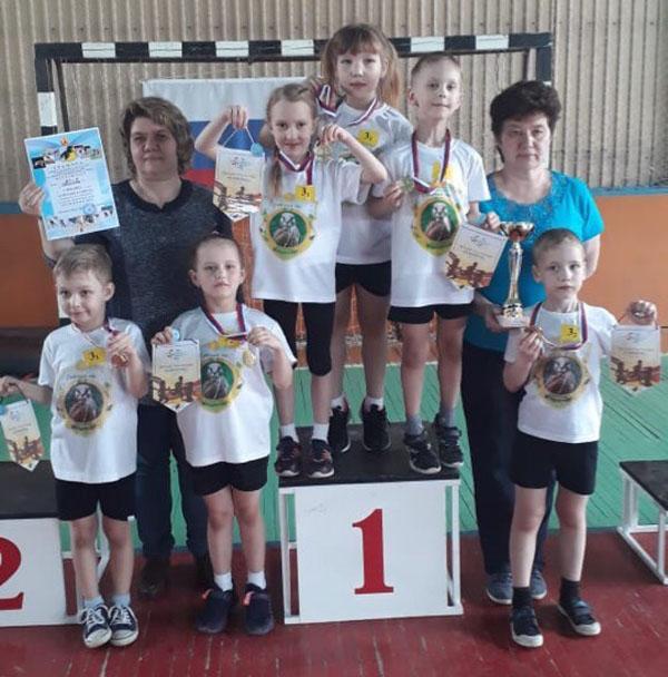 Команда детского сада №8 «Орлёнок» заняла первое место