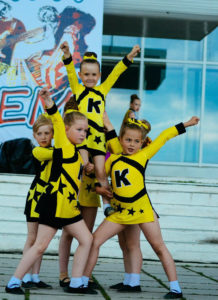 Младшие участницы спортклуба «Kids» на Дне молодежи