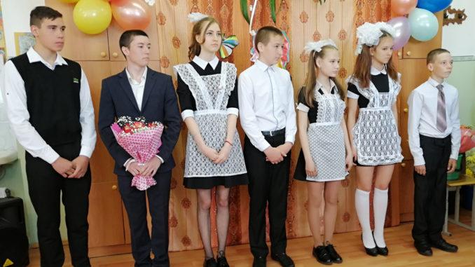 Выпускники 9-го класса основной Воздвиженской школы