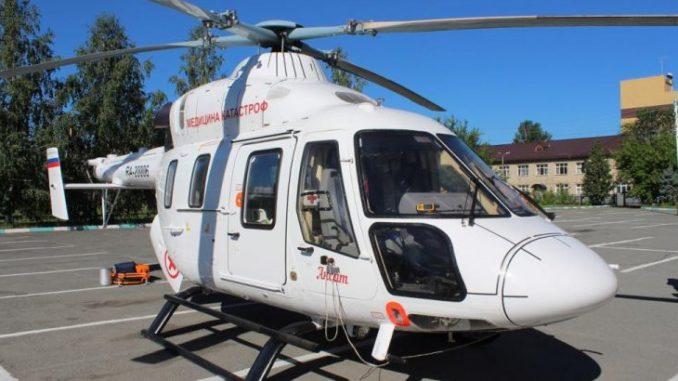 Вертолет доставил первого пациента из Каслинского района в Челябинск