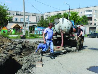В Каслях порыв устранили, водоснабжение восстановлено