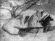 Пес Джек и его проводник, ефрейтор Кисагулов (на снимке справа), были разведчиками. На их совместном счету более двух десятков захваченных «языков». Уйти с пленным мимо многочисленных засад и постов охраны ефрейтор смог лишь благодаря чутью собаки