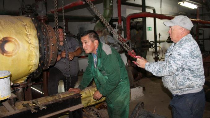 На котельной поселка Береговой завершается ремонт третьего бойлера