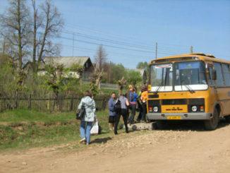 Перевозки населения из отдалённых посёлков Каслинского района