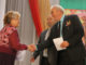 Екатерина Павловна Лукиных принимает благодарственное письмо депутата Госдумы Бурматова