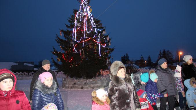 На открытии ледового городка в Каслях (фото)