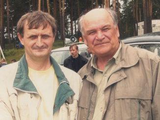 Георгий Михайлович Коровин (справа) с челябинским краеведом Владимиром Леонидовичем Бухаровы