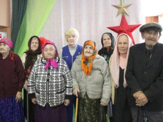Труженики тыла – участники торжественной встречи