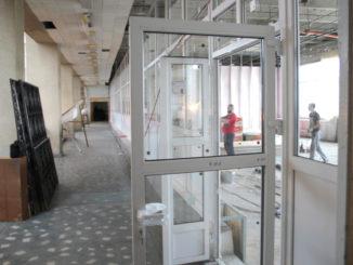 В читальном зале центральной детской библиотеки идёт ремонт
