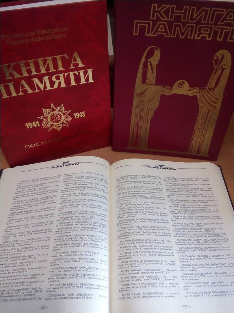 Книга Памяти Челябинской области, в создании которой принял участие коллектив Каслинского музея