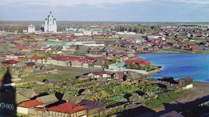 Вид Каслей. Фото Прокудина-Горского С.М. ХХ в.