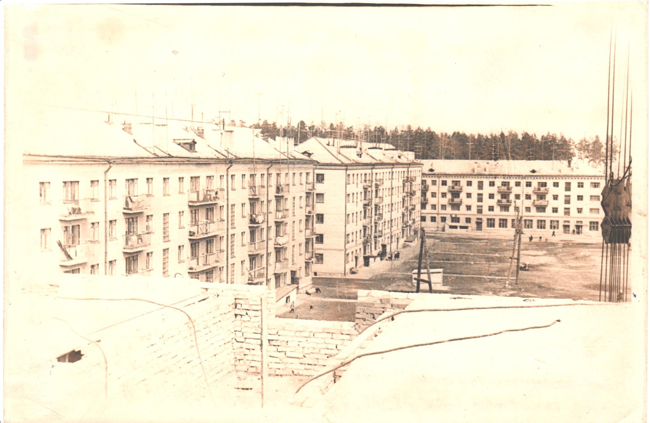 Многоквартирные дома по ул. Стадионной. Фото Б.Н. Доценко 1969г.