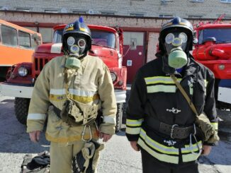 Сотрудники 60 пожарно-спасательной части