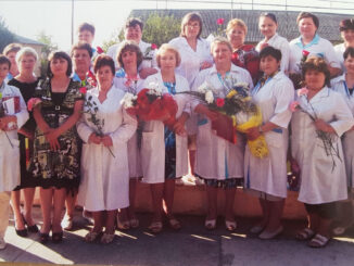 На снимке из личного архива Ольги Игоревны Барановой (в центре) коллектив Тюбукской врачебной амбулатории
