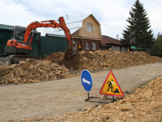 Идут земляные работы по ул. Пролетарская в г. Касли