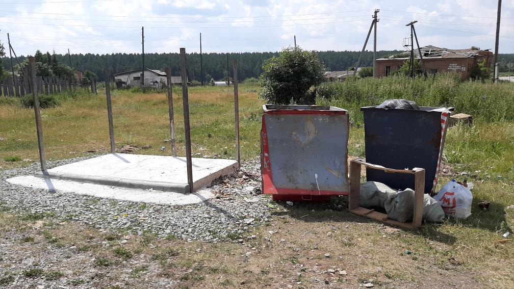 Оборудование новой контейнерной площадки в селе Булзи