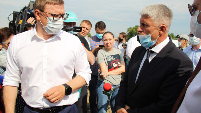 Алексей Текслер и Игорь Колышев в Тюбуке