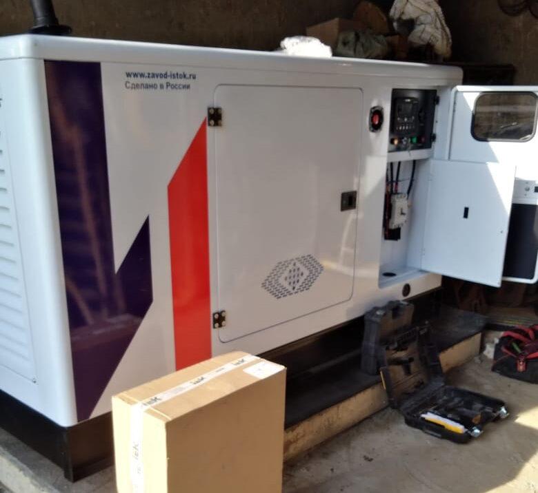 Дизель генератор, закупленный администрацией Булзинского поселения в рамках подготовки к отопительному сезону